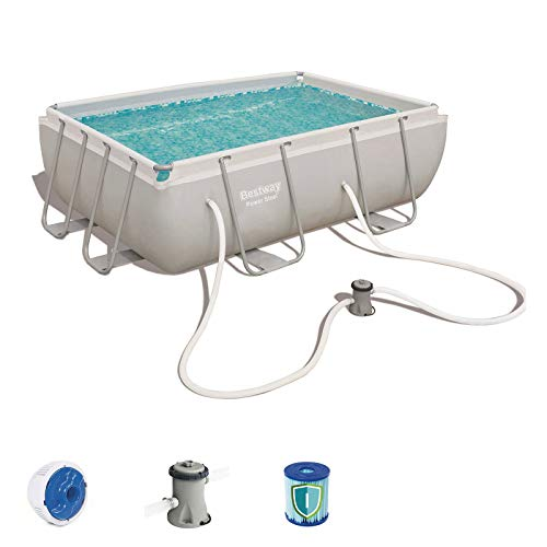 Bestway 56629 - Piscina Desmontable Tubular Power Steel 282x196x84 cm Depuradora de cartucho de...
