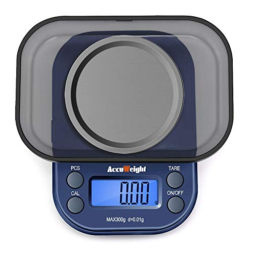 ACCUWEIGHT 255 Mini Báscula de Precisión Digitale para Joyería 300g x 0,01g Balanza de...