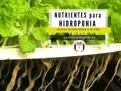 donde comprar solución nutritiva para hidroponía en españa