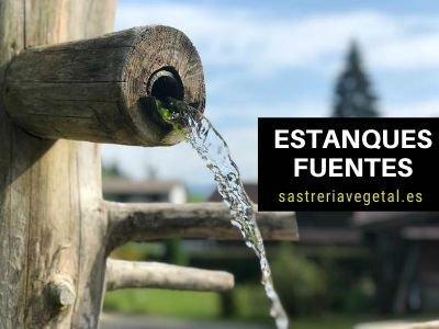 fuentes y estanques para jardín